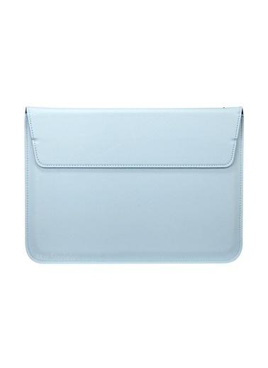 Mcstorey Apple MacBook Air Retina 13.3'' Deri Çanta Kılıf Lacivert